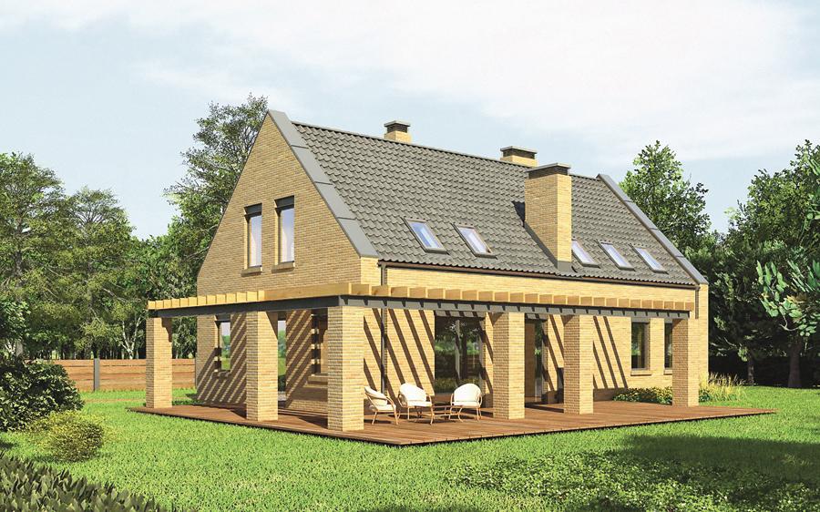 projekt domu m124 dom nad jeziorem. Black Bedroom Furniture Sets. Home Design Ideas