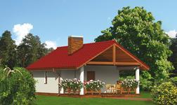 Budynek gospodarczy z sauną i wiatą rekreacyjną