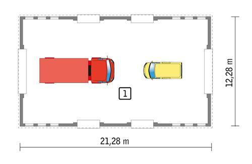 Rzut parteru POW. 240,9 m²