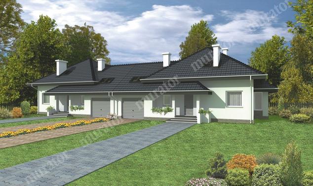 Projekt domu:  Murator B01   – Dom z widokiem (bliźniak)