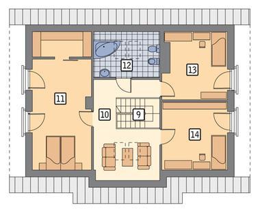 RZUT PODDASZA POW. 59,2 m²